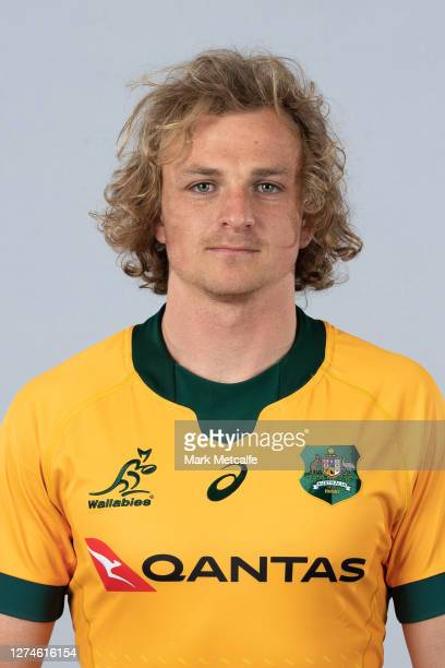 Joe Powell poses during the Australian Wallabies rugby team headshots session at the Crowne Plaza on September 21 2020 in the Hunter Valley Australia