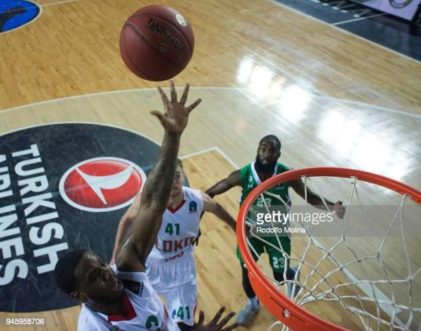 Joe Ragland #3 of Lokomotiv Kuban Krasnodar in action during the 7DAYS EuroCup Basketball Finals game two between Darussafaka Istanbul v Lokomotiv...