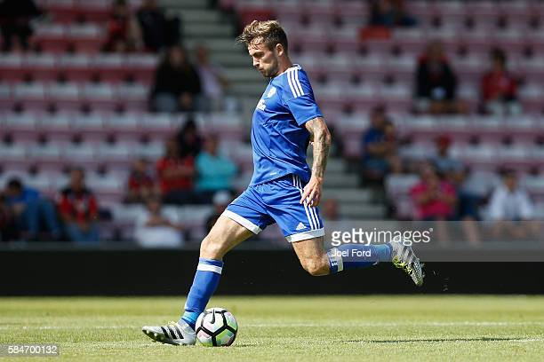 Joe Rall of Cardiff City during a preseason match between Bournemouth and Cardiff City at Goldsands Stadium on July 30 2016 in Bournemouth England