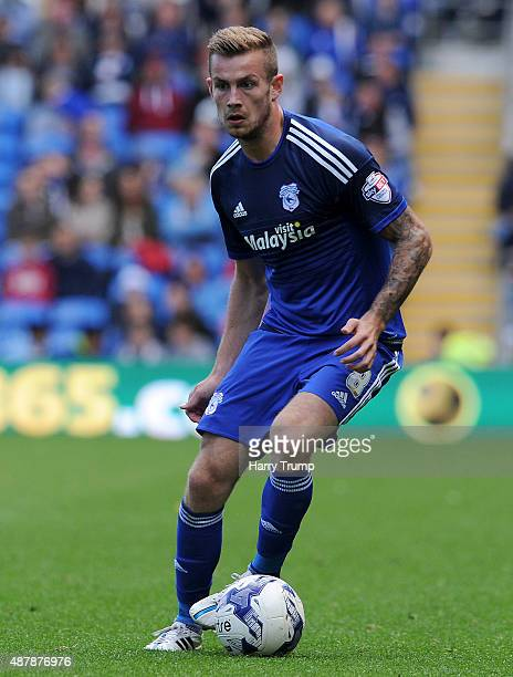 Joe Ralls of Cardiff City during the Sky Bet Championship match between Cardiff City and Huddersfield at Cardiff City Stadium on September 12 2015 in...