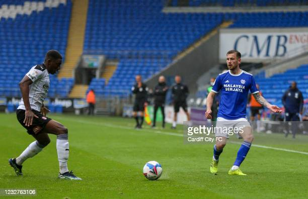 Joe Ralls of Cardiff City FC and Michael Ihiekwe of Rotherham United during the Sky Bet Championship match between Cardiff City and Rotherham United...