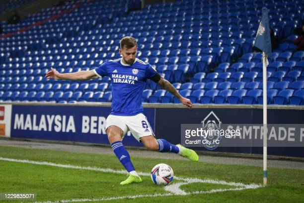 Joe Ralls of Cardiff City FC during the Sky Bet Championship match between Cardiff City and Luton Town at Cardiff City Stadium on November 28, 2020...