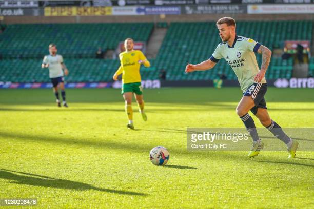 Joe Ralls of Cardiff City FC during the Sky Bet Championship match between Norwich City and Cardiff City at Carrow Road on December 19, 2020 in...