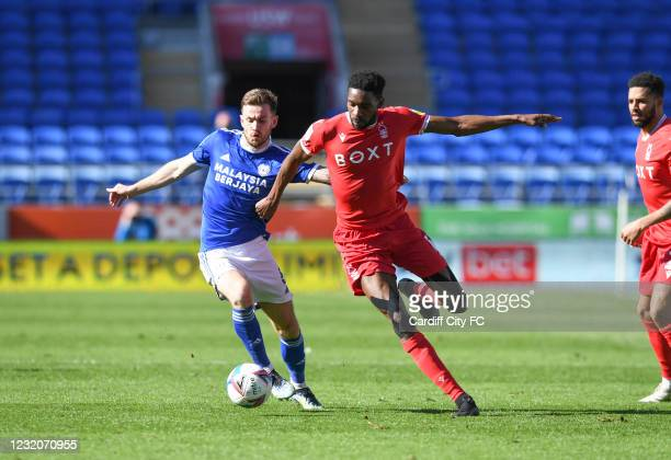 Joe Ralls of Cardiff City FC during the Sky Bet Championship match between Cardiff City and Nottingham Forest at Cardiff City Stadium on April 2,...
