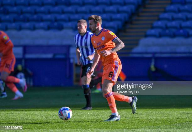 Joe Ralls of Cardiff City FC during the Sky Bet Championship match between Sheffield Wednesday and Cardiff City at Hillsborough Stadium on April 5,...