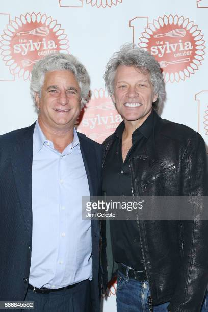 Joe Ravitch and Jon Bon Jovi attend The Sylvia Center's Tenth Anniversary Art of Cooking Gala at Hudson Mercantile on October 26 2017 in New York City