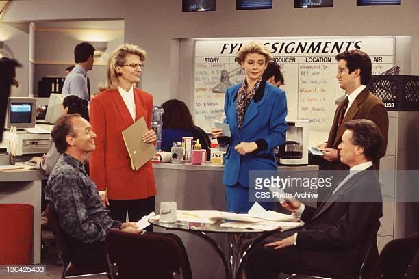 BROWN Joe Regaolbuto as Frank Fontana Candice Bergen as Murphy Brown Faith Ford as Corky Sherwood Grant Shaud as Miles Silverberg and Charles...