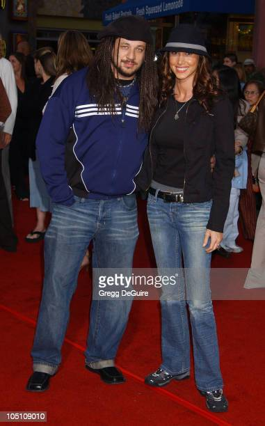 Joe Reitman Shannon Elizabeth during The World Premiere of Bruce Almighty at Universal Amphitheatre in Universal City California United States