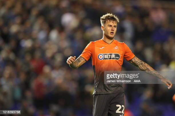 Joe Rodon of Swansea City during the Sky Bet Championship match between Birmingham City and Swansea City at St Andrew's Trillion Trophy Stadium on...