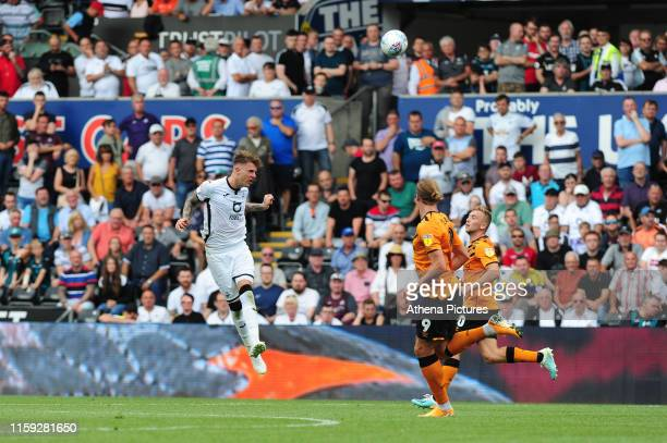 Joe Rodon of Swansea City in action during the Sky Bet Championship match between Swansea City and Hull City at the Liberty Stadium on August 03 2019...