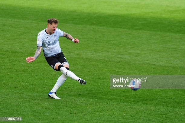 Joe Rodon of Swansea City in action during the Sky Bet Championship match between Swansea City and Birmingham City at the Liberty Stadium on...
