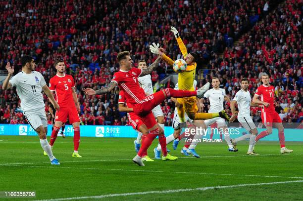 Joe Rodon of Wales in action during the UEFA Euro 2020 Qualifier match between Wales and Azerbaijan at the Cardiff City Stadium on September 06 2019...