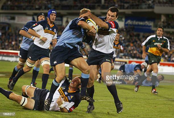 Joe Roff of the Brumbies in action during the round five Super 12 match between the ACT Brumbies and the Bulls of South Africa held at the Canberra...