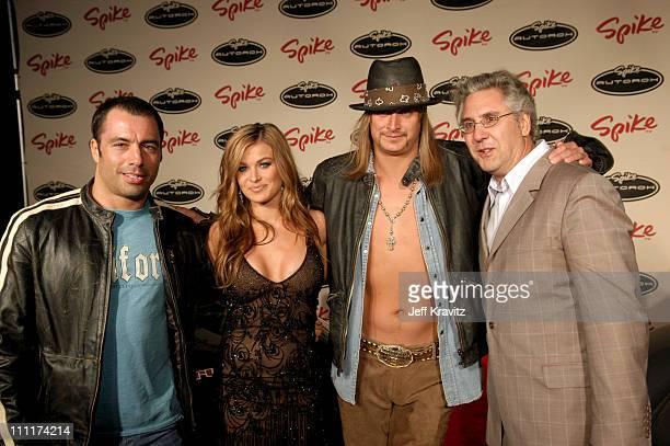 Joe Rogan Carmen Electra Kid Rock and Albie Heckt president of Spike TV