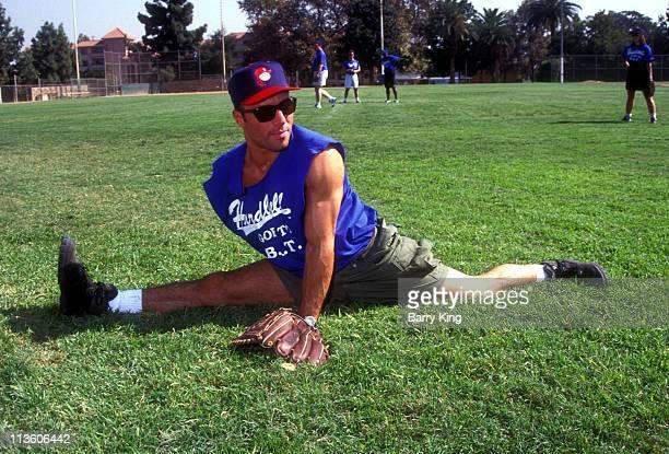 Joe Rogan during Joe Rogan at a Celebrity Baseball Game in Los Angeles California United States