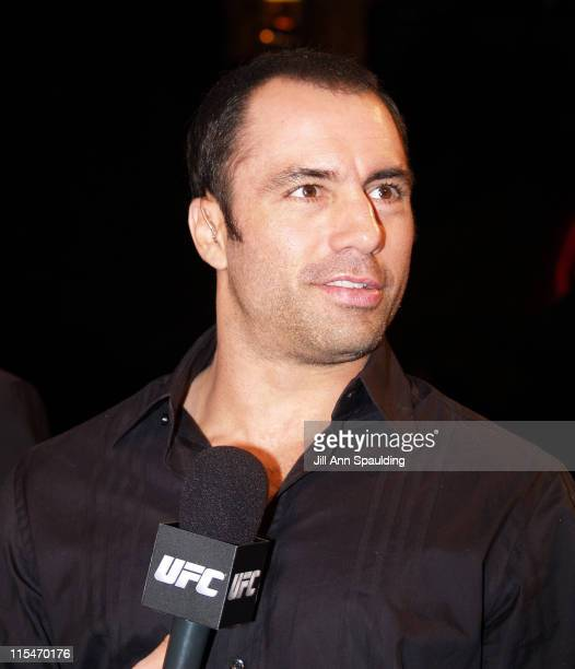 Joe Rogan during The Ultimate Fighter Season 2 The Finals at The Hard Rock Hotel and Casino in Las Vegas Nevada United States