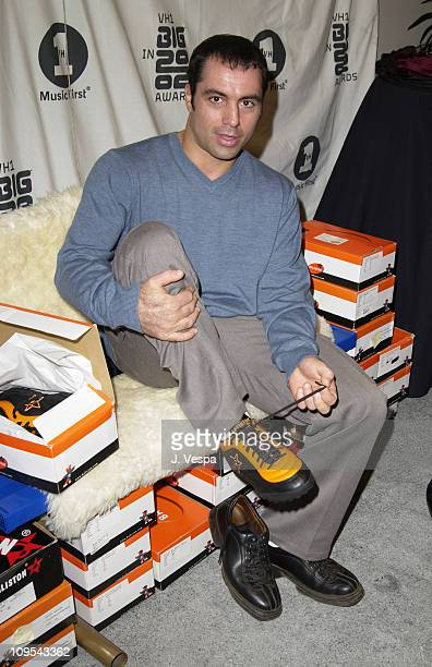 Joe Rogan with Baliston Shoes during VH1 Big in 2002 Awards Backstage Creations Talent Retreat Show Day at Grand Olympic Auditorium in Los Angeles...