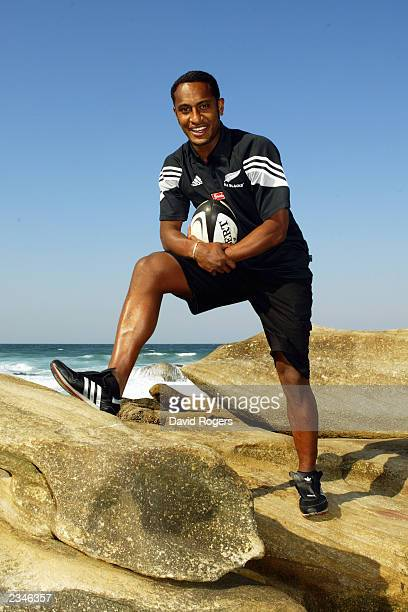 Joe Rokocoko of New Zealand poses for a picture during a photo shoot on July 17 2003 at Umhlanga Rocks in Durban South Africa