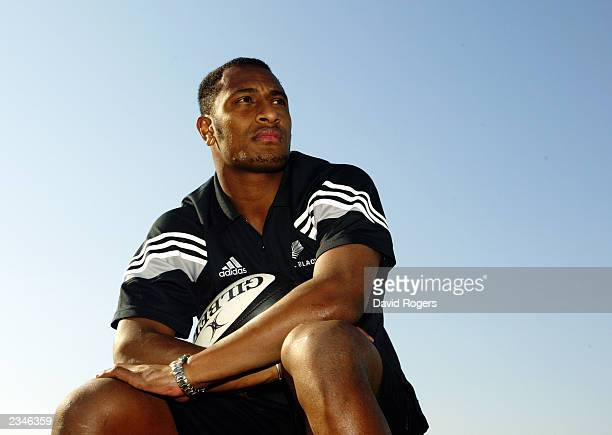 Joe Rokocoko of New Zealand poses for the camera during a photo shoot on July 17 2003 at Umhlanga Rocks in Durban South Africa