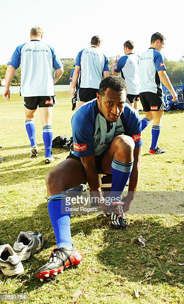 Joe Rokocoko of New Zealand prepares for training on July 14 2003 in Durban South Africa