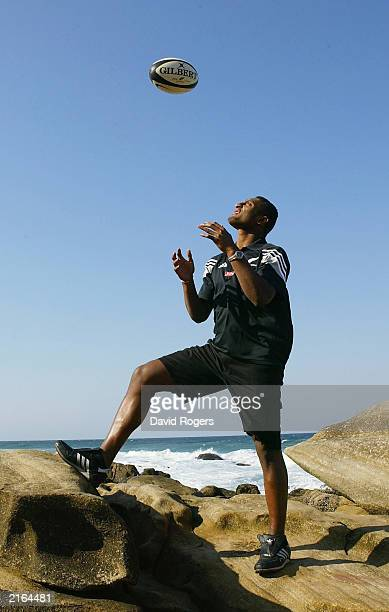 Joe Rokocoko of the New Zealand All Black wing poses for a photo on July 16 2003 in Durban South Africa
