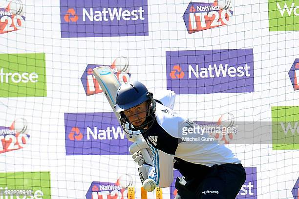 Joe Root batting during the England T20 team training at the Kia Oval Ground on May 19 2014 in London England