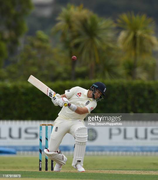 Joe Root of England avoids a bouncer at Cobham Oval on November 16 2019 in Whangarei New Zealand
