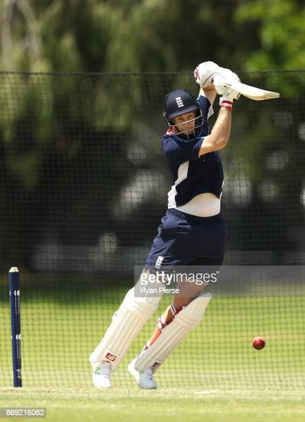 Joe Root of England bats during an England nets session at Richardson Park on November 2 2017 in Perth Australia