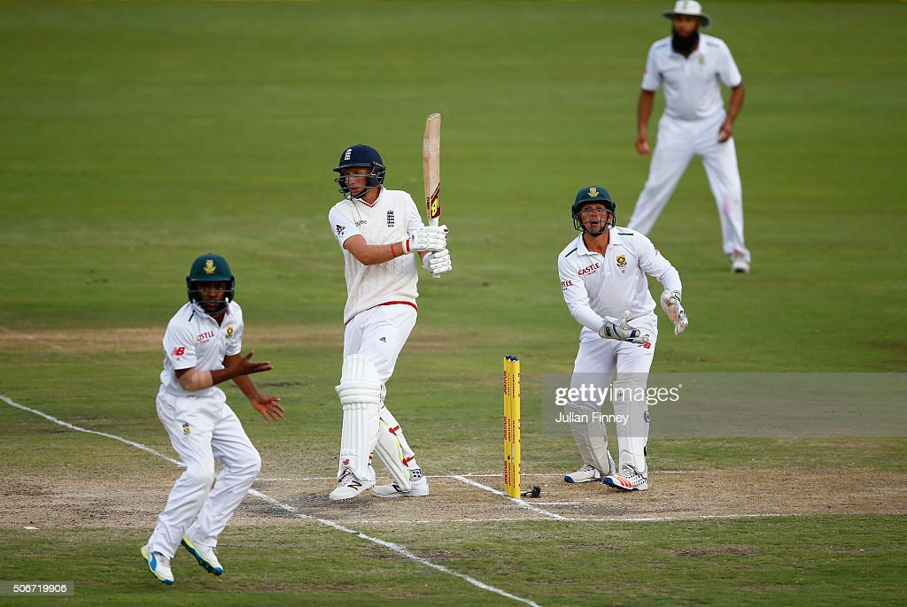 South Africa v England - Fourth Test: Day Four : News Photo