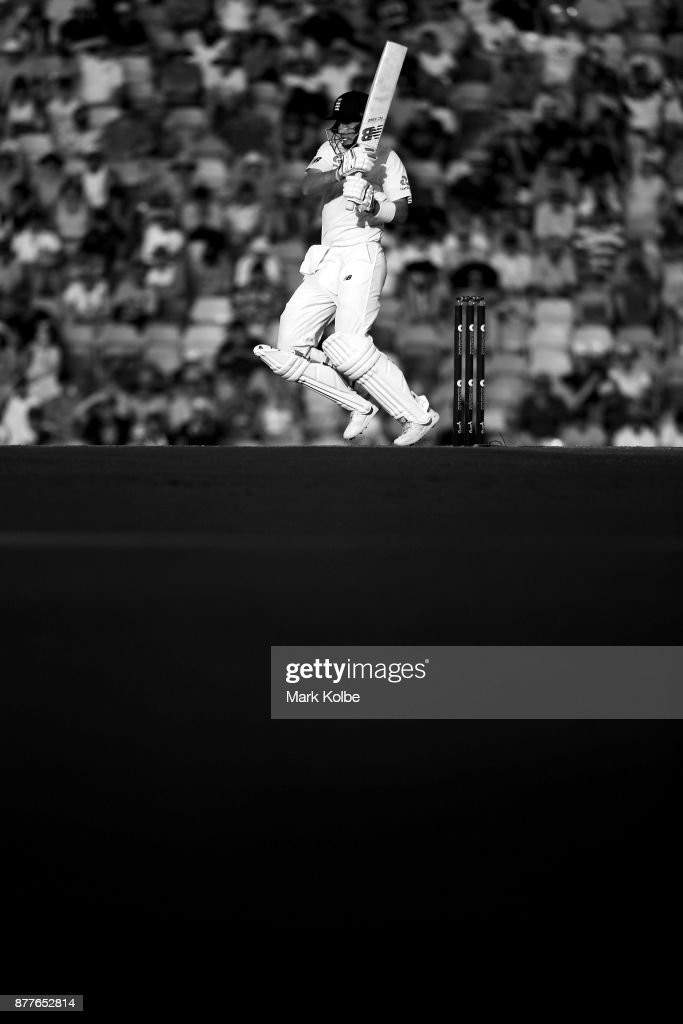 Joe Root of England bats during day one of the First Test Match of the 2017/18 Ashes Series between Australia and England at The Gabba on November 23, 2017 in Brisbane, Australia.