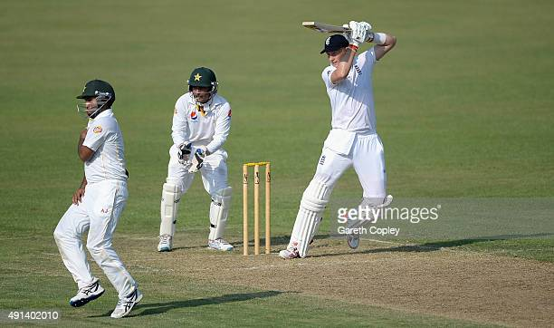 Joe Root of England bats during day one of the tour match between Pakistan A and England at Sharjah Cricket Stadium on October 5 2015 in Sharjah...