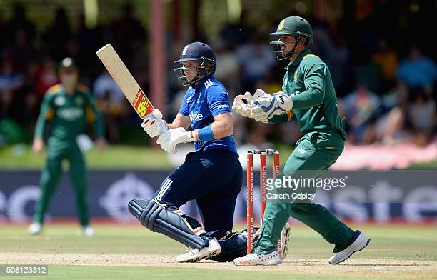 Joe Root of England bats during the 1st Momentum ODI match between South Africa and England at Mangaung Oval on February 3 2016 in Bloemfontein South...