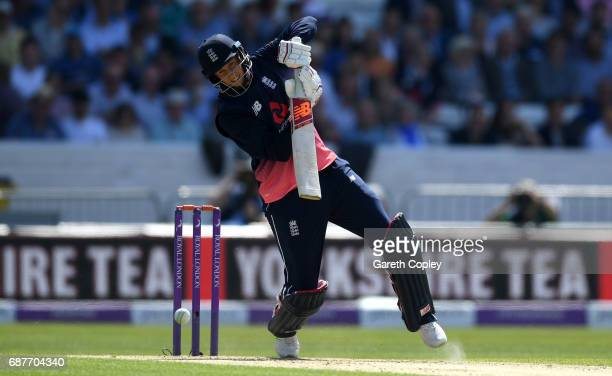 Joe Root of England bats during the 1st Royal London ODI match between England and South Africa at Headingley on May 24 2017 in Leeds England