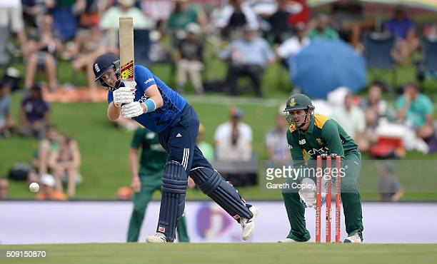 Joe Root of England bats during the 3rd Momentum ODI match between South Africa and England at Supersport Park on February 9 2016 in Centurion South...