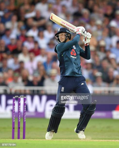 Joe Root of England bats during the 3rd Royal London ODI match between England and Australia at Trent Bridge on June 19 2018 in Nottingham England