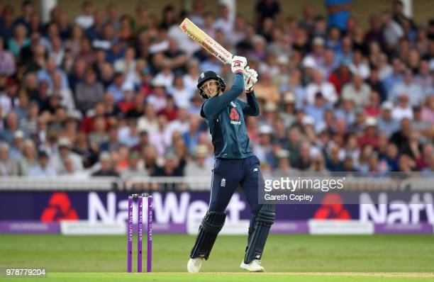 Joe Root of England bats during the 3rd Royal London ODI match between England and Australia at Trent Bridge on June 19, 2018 in Nottingham, England.