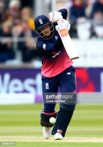Joe Root of England bats during the Royal London ODI match between England and Ireland at Lord's Cricket Ground on May 7 2017 in London England