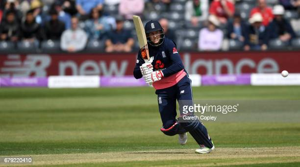 Joe Root of England bats during the Royal London One Day International between England and Ireland at The Brightside Ground on May 5 2017 in Bristol...