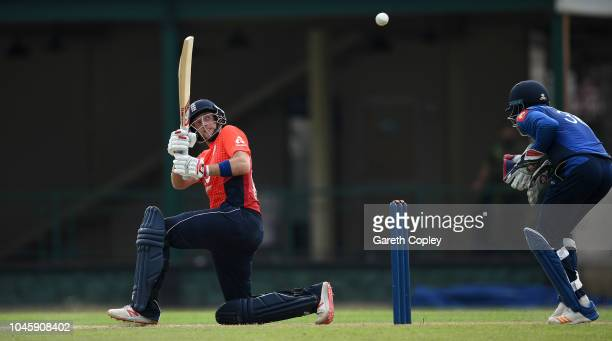 Joe Root of England bats during the tour match between Sri Lanka Cricket Board XI and England at P Sara Oval on October 5, 2018 in Colombo, .