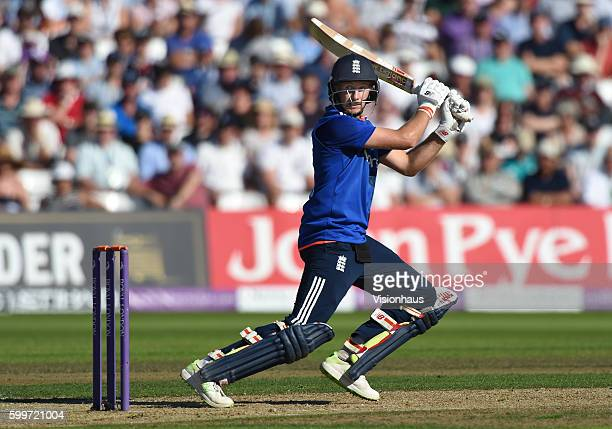 Joe Root of England batting during the 3rd Royal London ODI between England and Pakistan at Trent Bridge on August 30 2016 in Nottingham United...