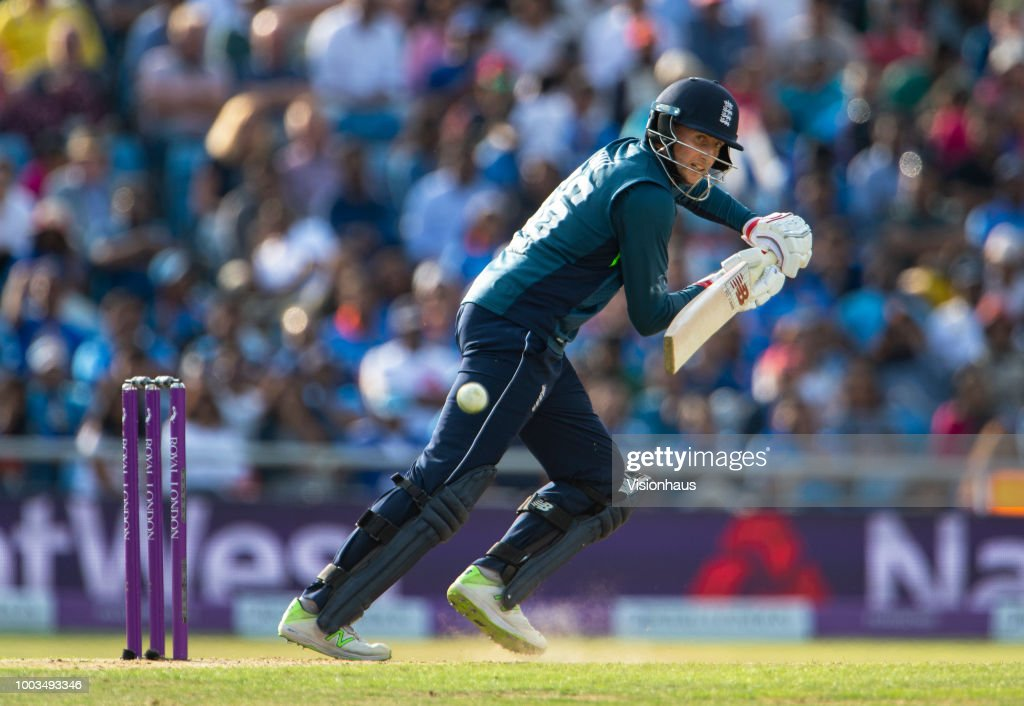 Joe Root of England batting during the 3rd Royal London ODI match between England and India at Headingley on July 17, 2018 in Leeds, England.