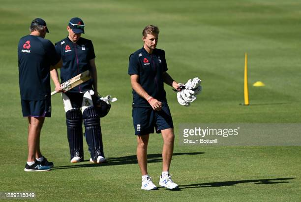 Joe Root of England during a Net Session at Newlands Cricket Ground on December 03, 2020 in Cape Town, South Africa.