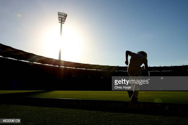Joe Root of England fields during day two of the First Ashes Test match between Australia and England at The Gabba on November 22 2013 in Brisbane...