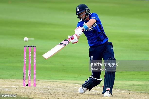 Joe Root of England in action during the 4th Momentum ODI between South Africa and England at Bidvest Wanderers Stadium on February 12 2016 in...
