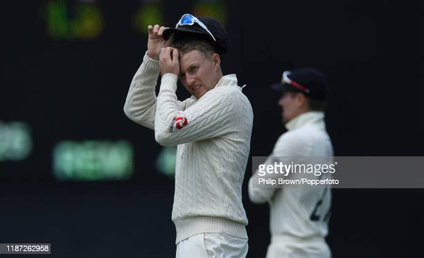 Joe Root of England looks on at Cobham Oval on November 13 2019 in Whangarei New Zealand