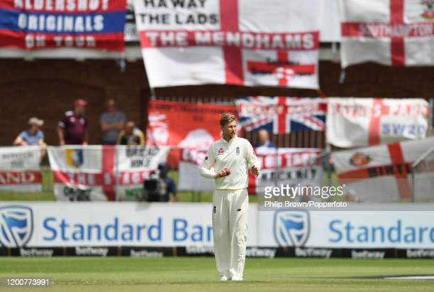 Joe Root of England looks on during Day Five of the Third Test between England and South Africa on January 20, 2020 in Port Elizabeth, South Africa.