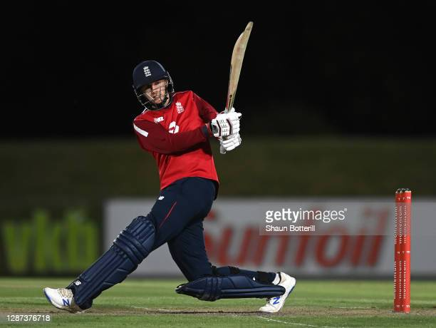 Joe Root of England plays a shot during the warm up match between Team Morgan and Team Buttler at Boland Park on November 23, 2020 in Paarl, South...