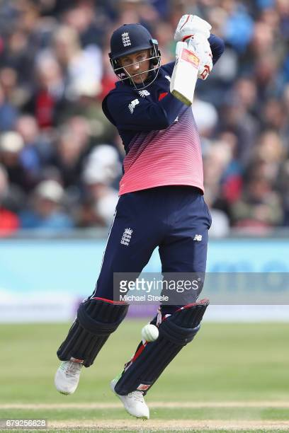 Joe Root of England plays to the offside during the Royal London One Day International match between England and Ireland at The Brightside Ground on...