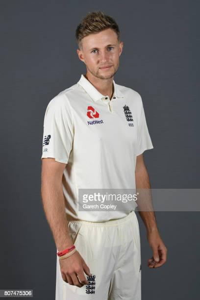 Joe Root of England poses for a portrait at Lord's Cricket Ground on July 4 2017 in London England