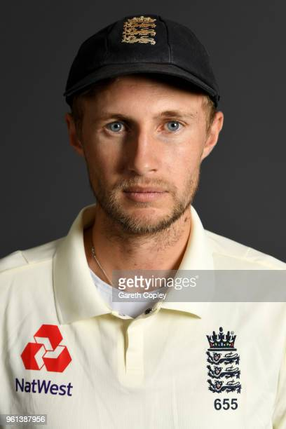 Joe Root of England poses for a portrait at Lord's Cricket Ground on May 22 2018 in London England